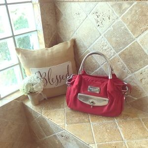 Kate Spade Nylon Satchel with Silver Accents